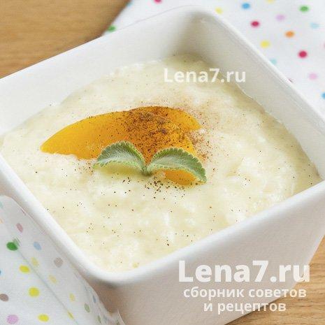 Рисовый пудинг с персиками