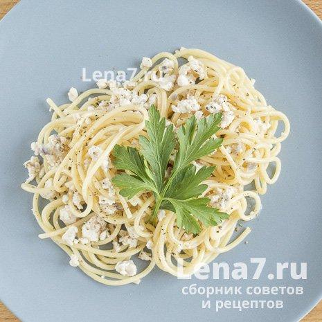Спагетти по-флотски с куриным фаршем