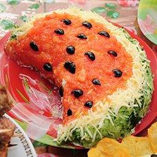 Салат «Арбузная долька»: рецепты