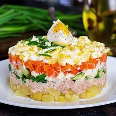 Салат с печенью трески: рецепты