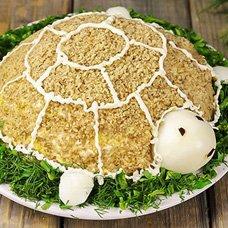 Салат «Черепаха» классический: рецепты