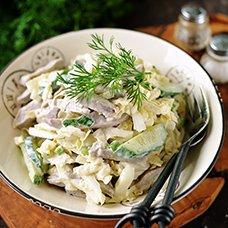 Салат из пекинской капусты с огурцом: рецепты