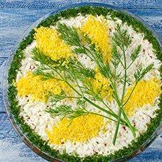 Салат «Мимоза» с рисом: рецепты