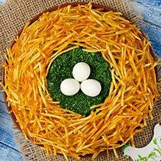 Салат «Птичье гнездо»: рецепты