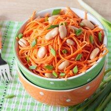 Салат с фасолью и корейской морковью: рецепты