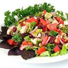 Салат с фасолью и курицей: рецепты