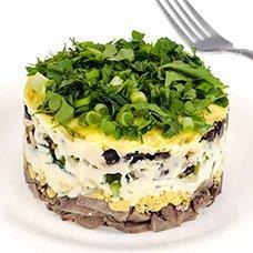 Салат с языком и свежим огурцом: рецепты