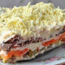 Салат с куриной печенью и солеными огурцами: рецепты