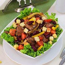 Салат с печенью и фасолью: рецепты