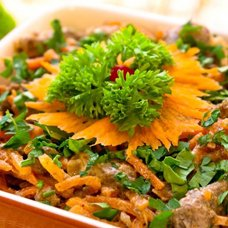 Салат с печенью и корейской морковью: рецепты