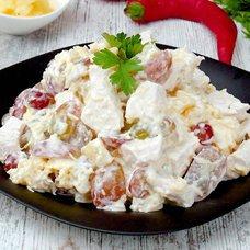 Рецепты салатов с виноградом и курицей