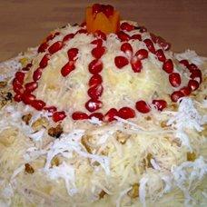 Салат «Шапка Мономаха» с гранатом: рецепты
