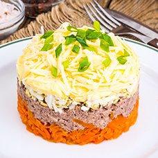 Салат со свиной печенью: рецепты