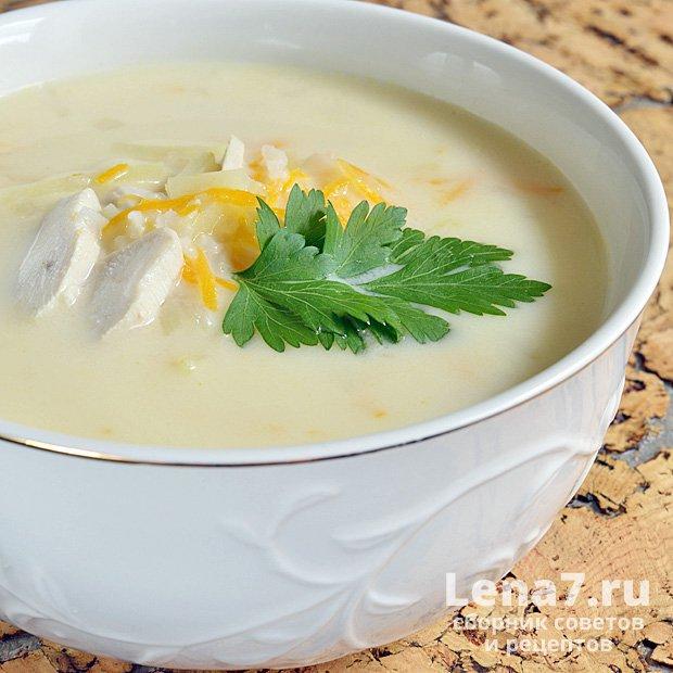 Суп с плавленым сыром