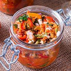 Салаты из помидоров, перца и моркови на зиму: рецепты домашних заготовок