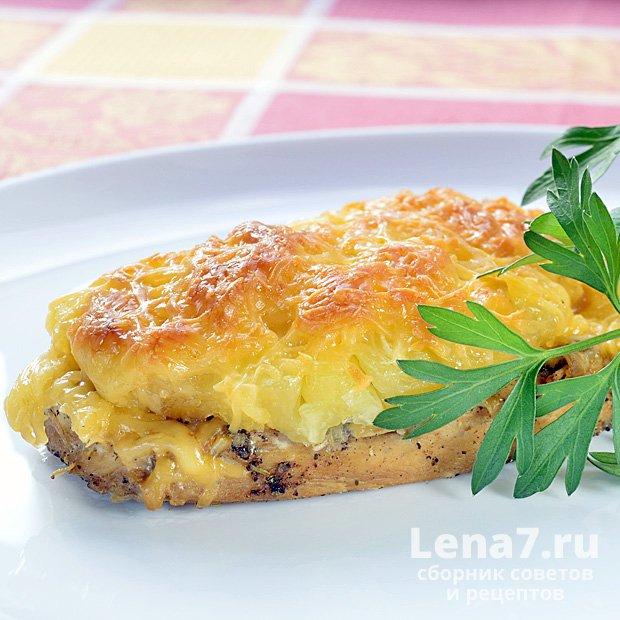 Куриное филе с ананасом в духовке рецепты