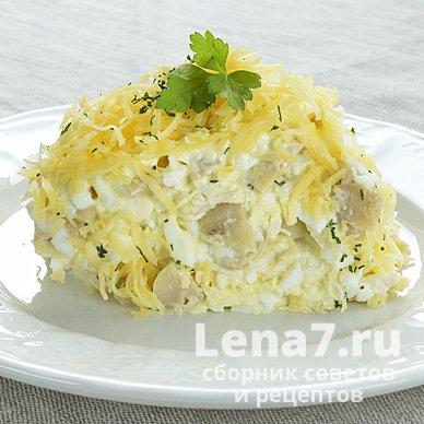 салат нежность рецепт классический рецепт с грибами
