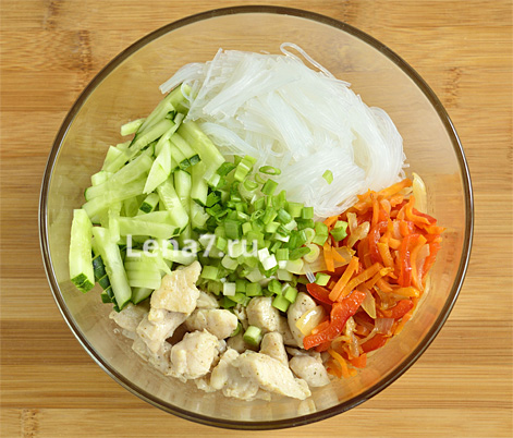 Салат из овощей и фунчозы рецепт с очень вкусный