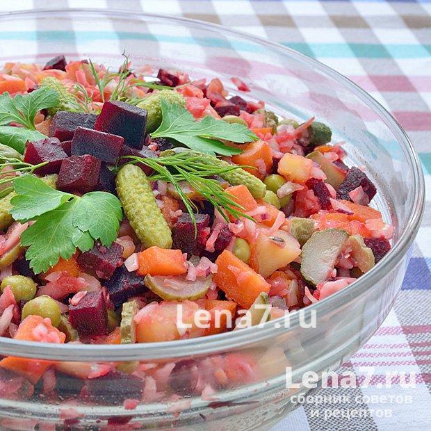 Салат винегрет рецепт с пошагово